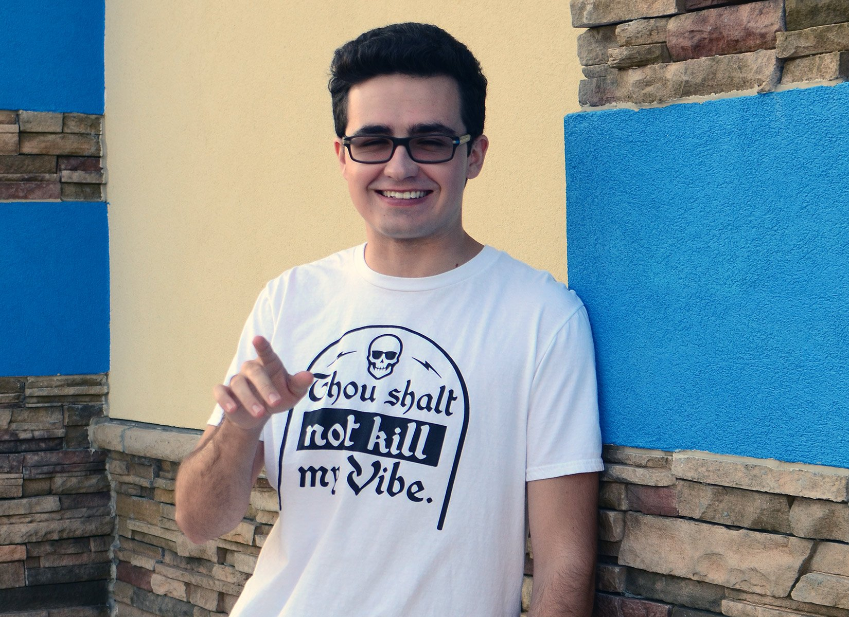 Thou Shalt Not Kill My Vibe on Mens T-Shirt