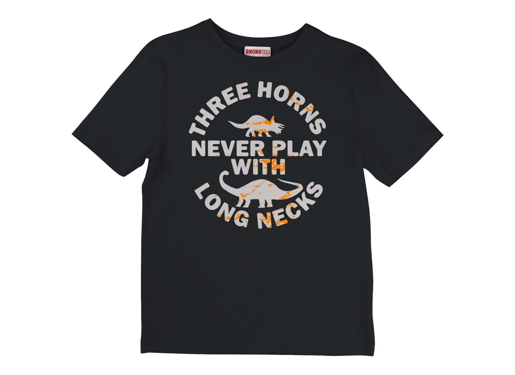 Three Horns Never Play With Long Necks on Kids T-Shirt