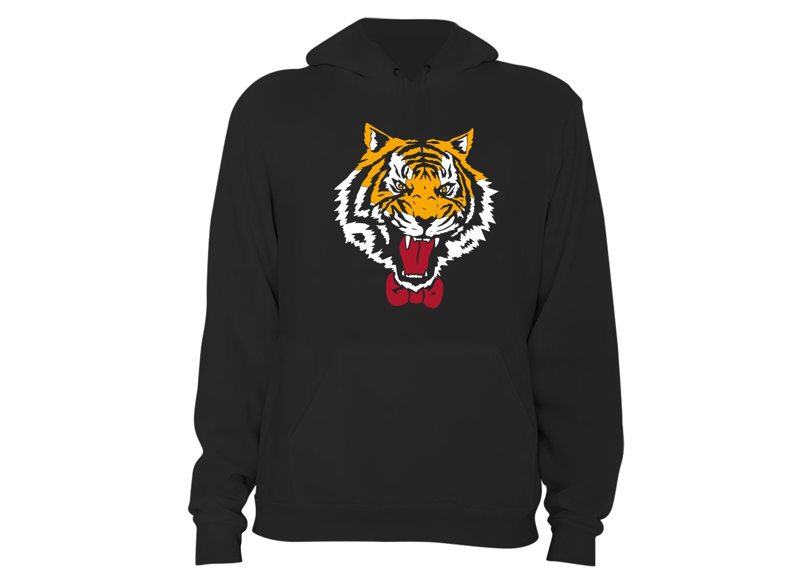Tiger Bow Tie on Hoodie