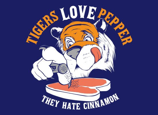 Tigers Love Pepper on Mens T-Shirt
