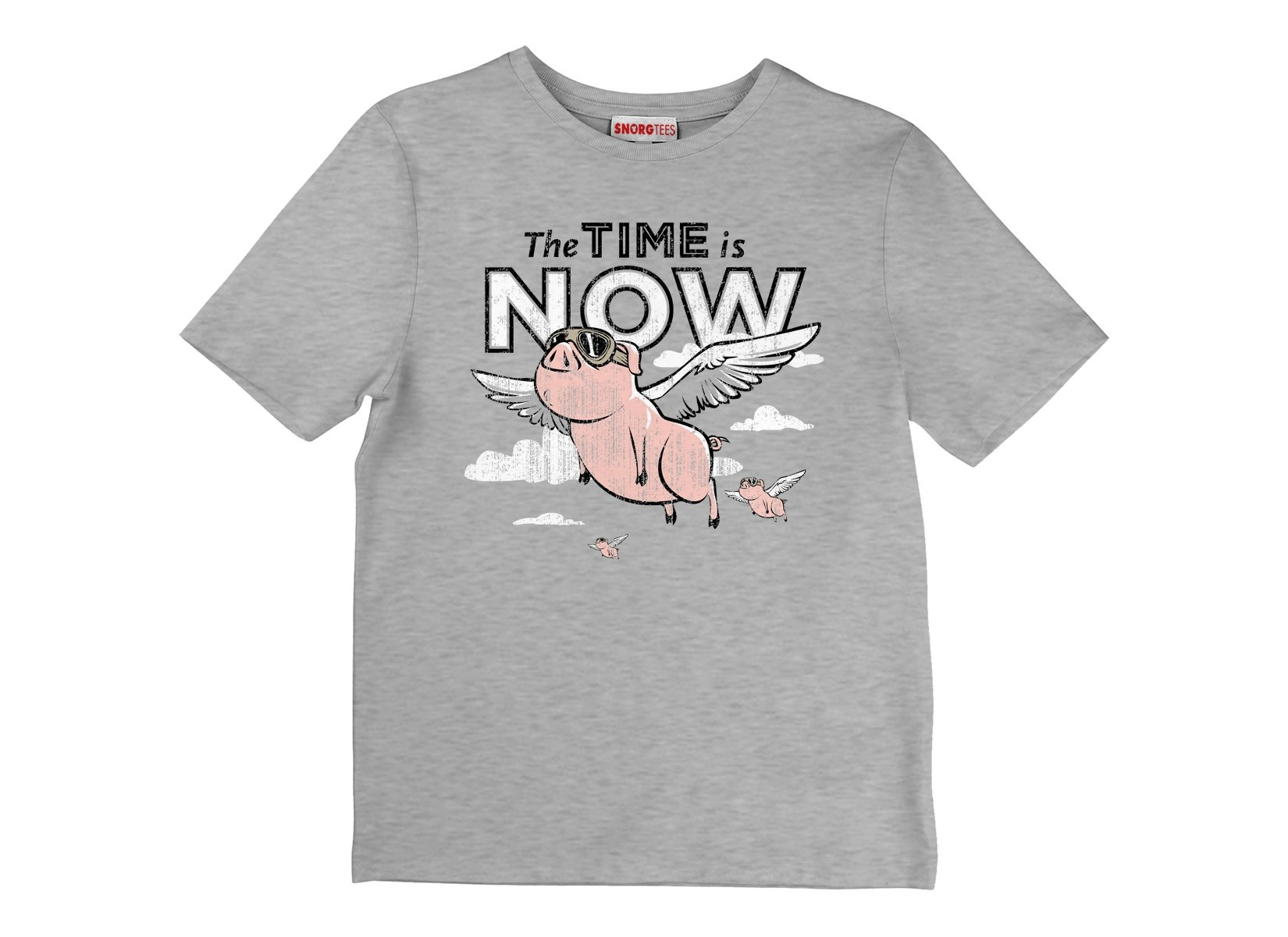 The Time Is Now on Kids T-Shirt