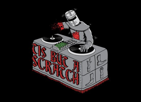 Tis But A Scratch on Mens T-Shirt