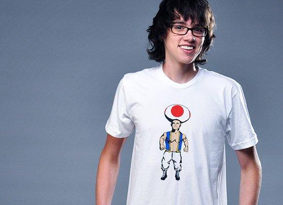 Mushroom Man on Mens T-Shirt