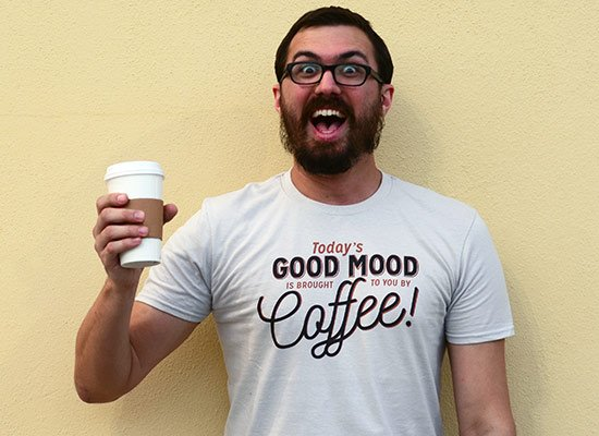 Today's Good Mood on Mens T-Shirt