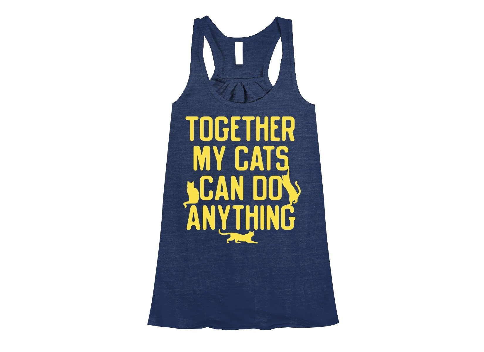 Together My Cats Can Do Anything on Womens Tanks T-Shirt