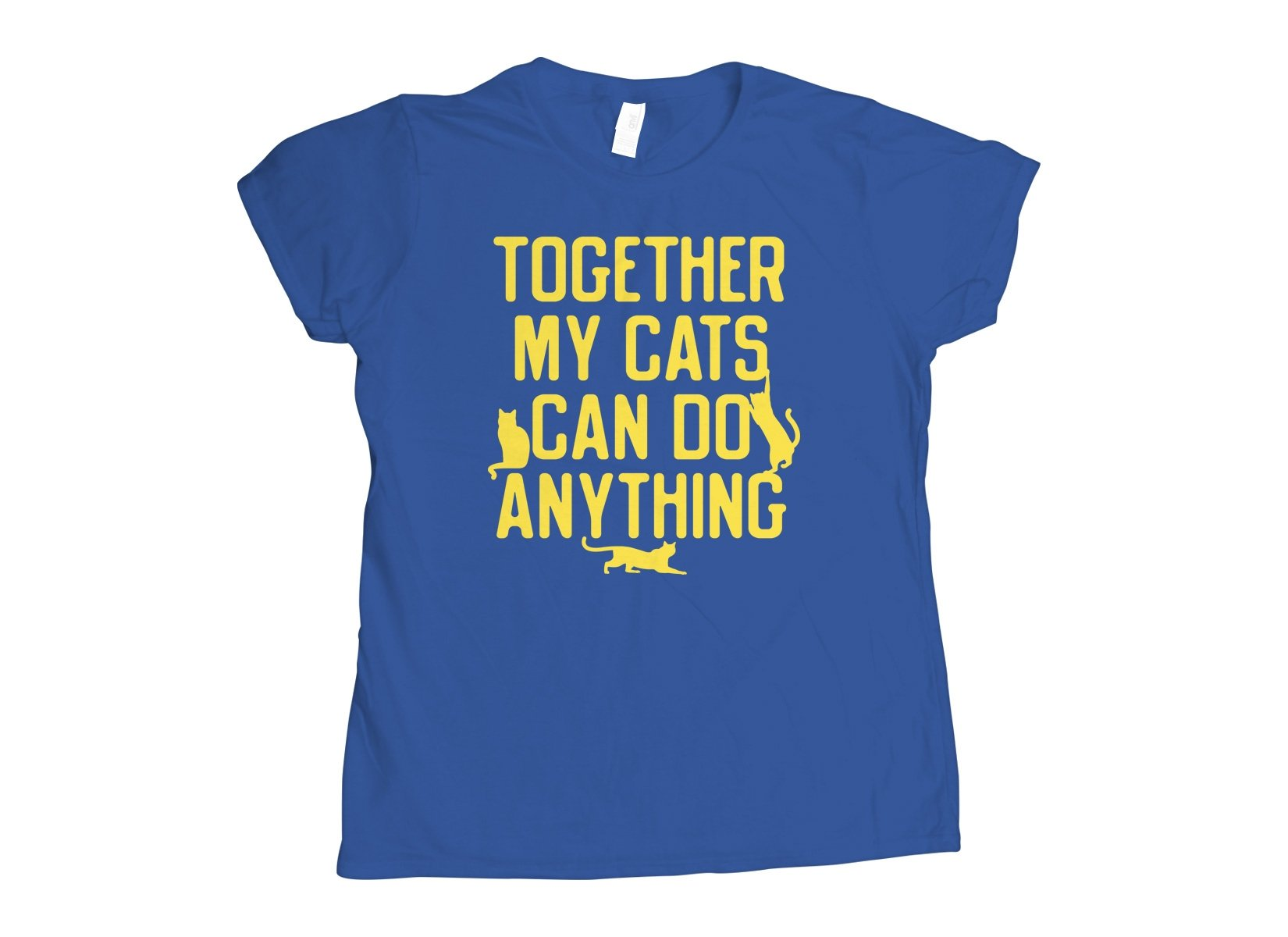 Together My Cats Can Do Anything on Womens T-Shirt
