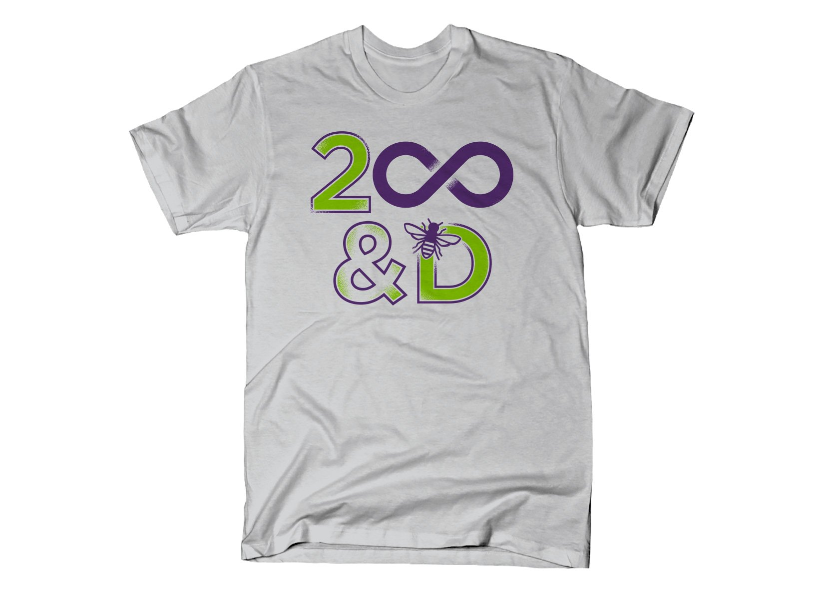 2 Infinity And B On D on Mens T-Shirt