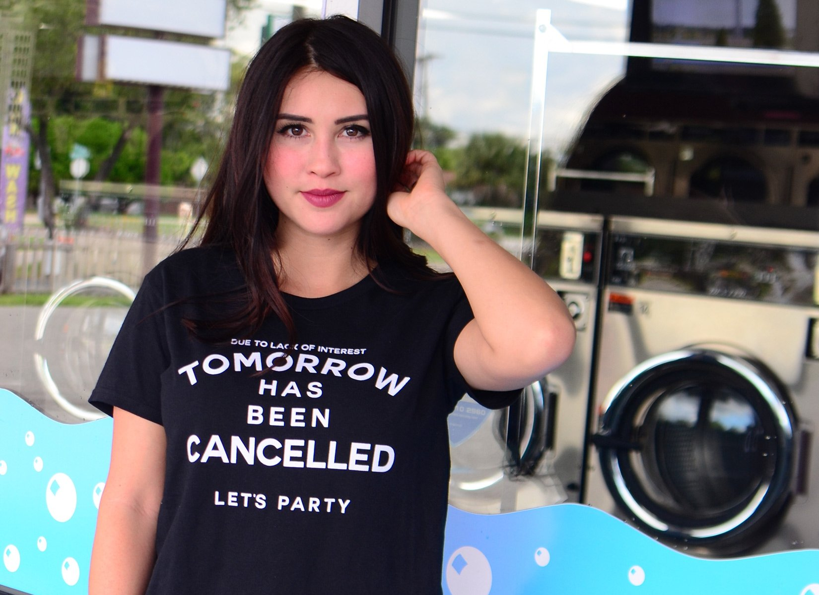 Tomorrow Has Been Cancelled on Womens T-Shirt