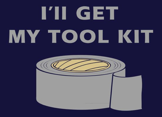 I'll Get My Tool Kit on Mens T-Shirt