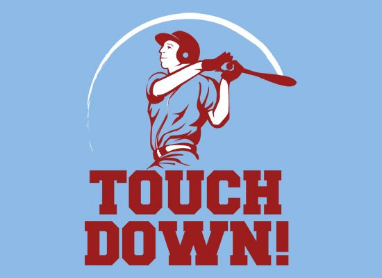 Touchdown! on Mens T-Shirt