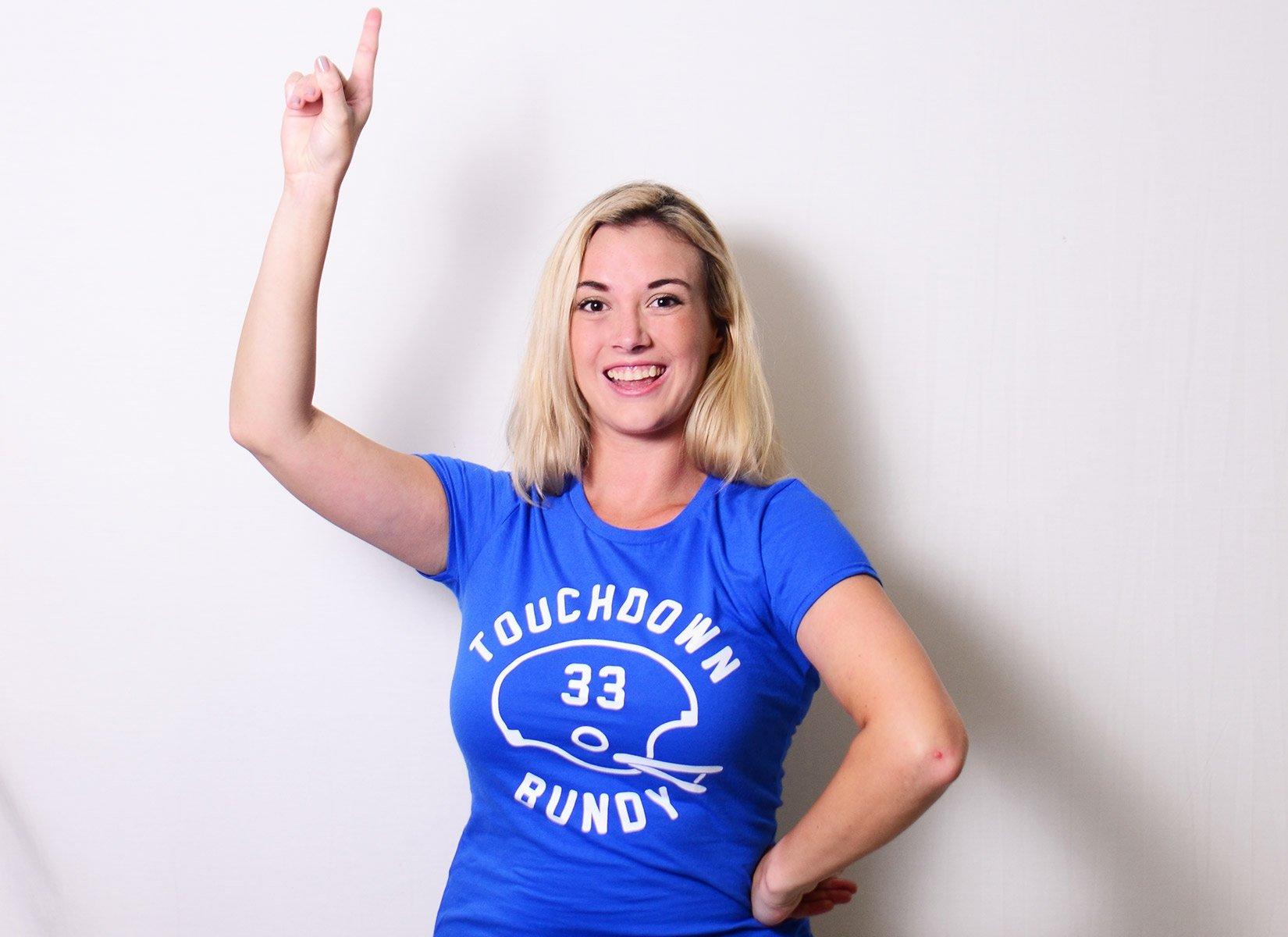 Touchdown Bundy on Womens T-Shirt