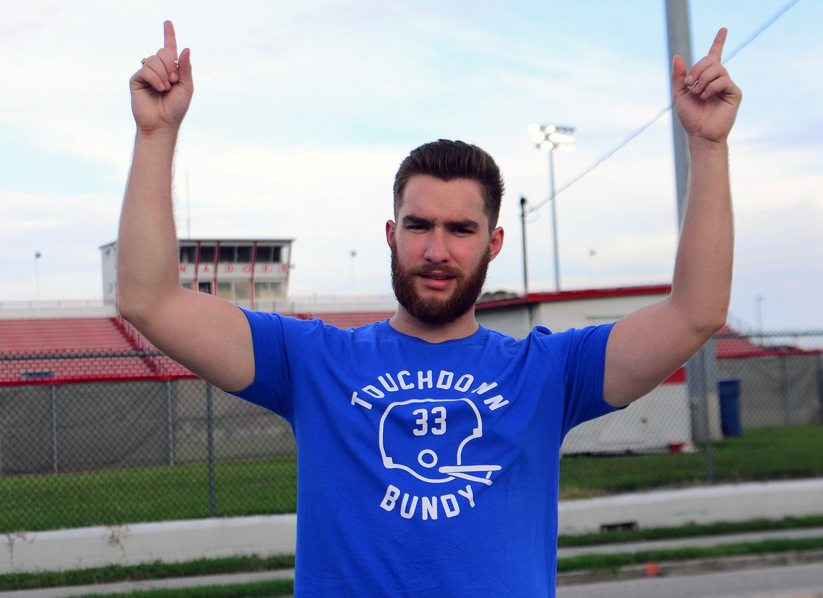 Touchdown Bundy on Mens T-Shirt