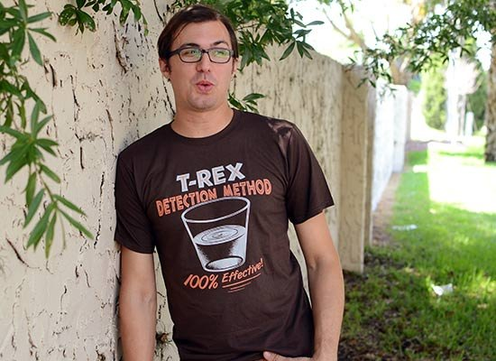 T-Rex Detection Method on Mens T-Shirt