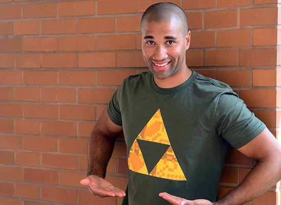 Triforce on Mens T-Shirt
