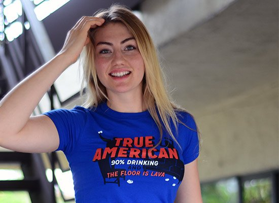 True American on Juniors T-Shirt
