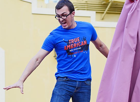 True American on Mens T-Shirt