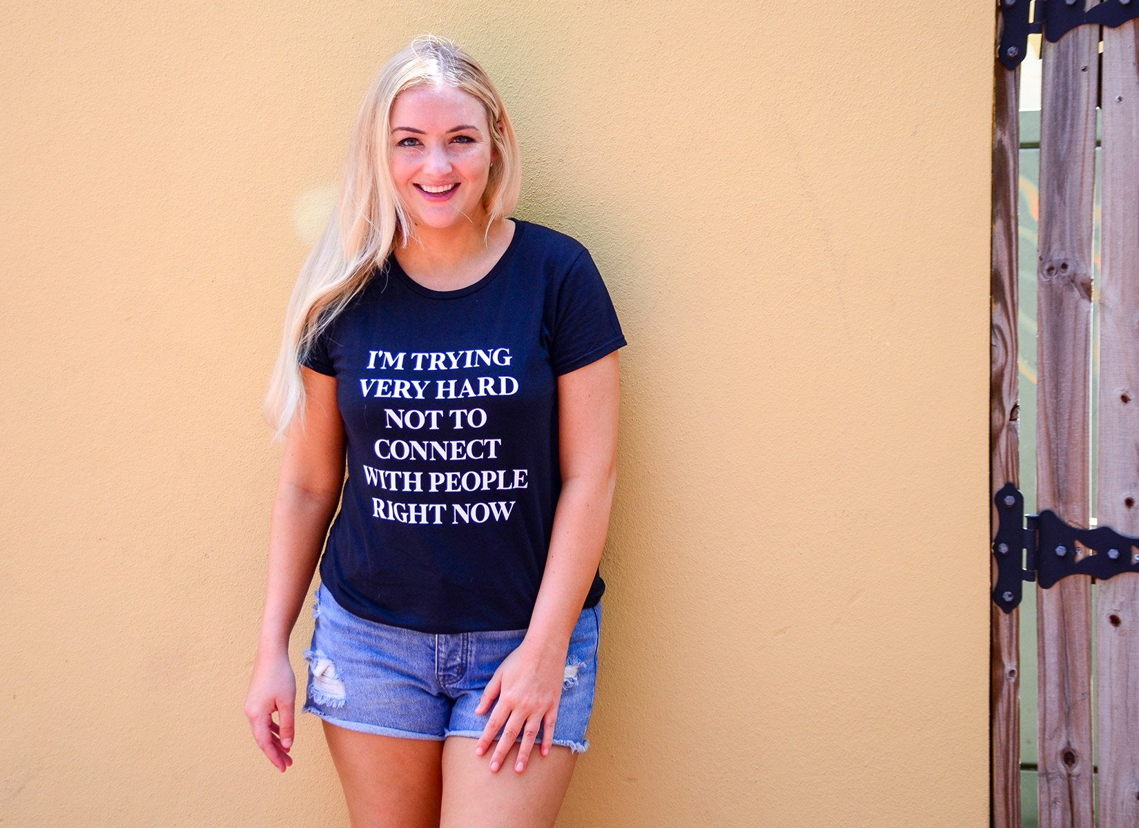 I'm Trying Very Hard Not To Connect With People Right Now on Womens T-Shirt