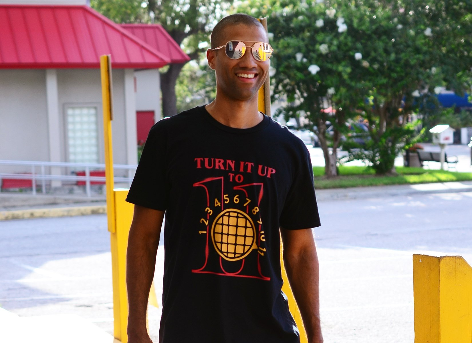 Turn It Up To 11 on Mens T-Shirt