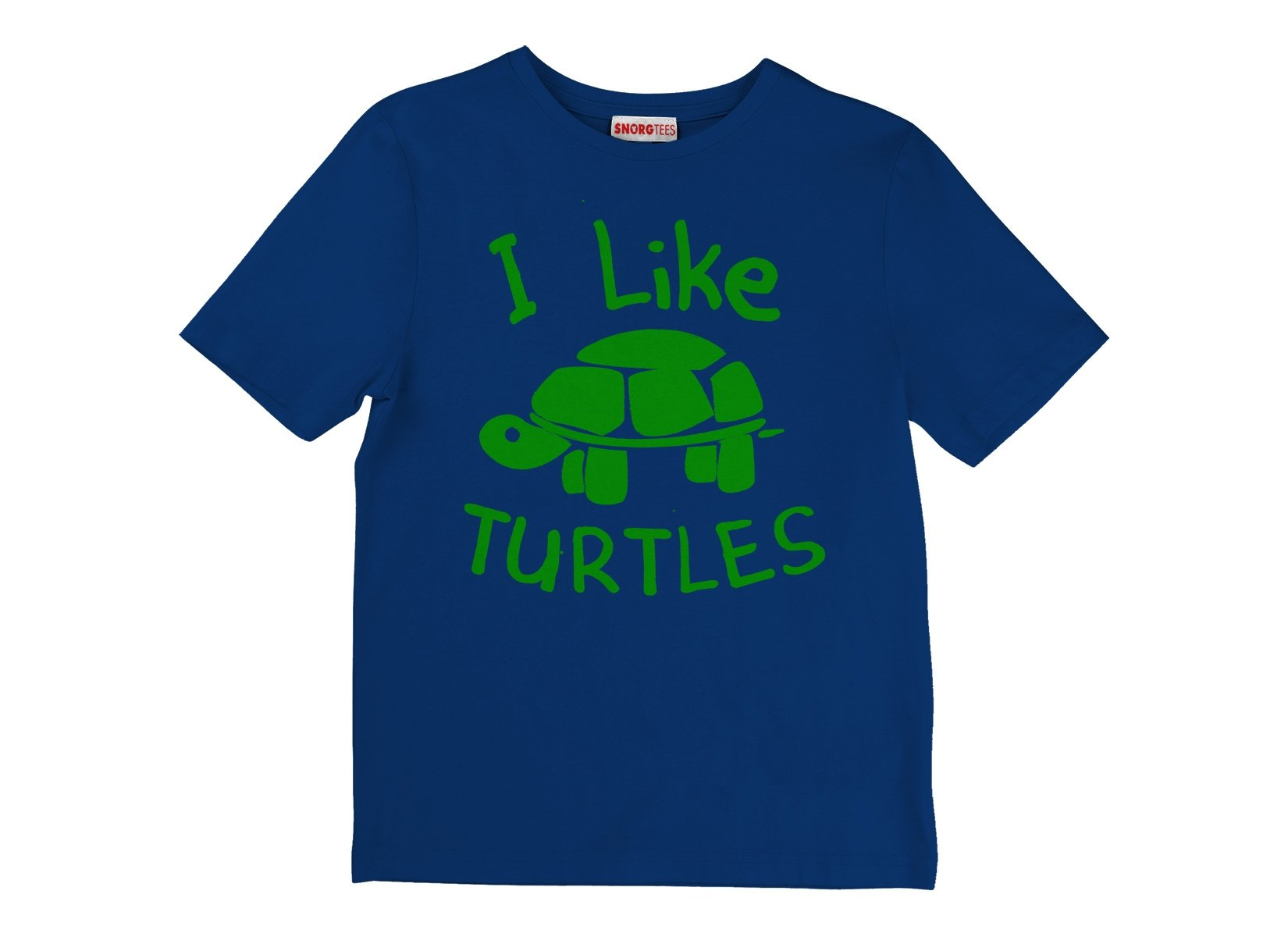 I Like Turtles on Kids T-Shirt