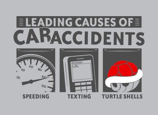 Leading Causes of Accidents on Mens T-Shirt