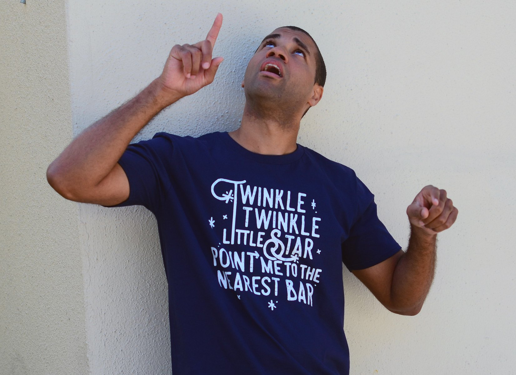 Point Me To The Nearest Bar on Mens T-Shirt