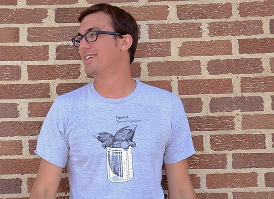 Two Moles Per Liter on Mens T-Shirt