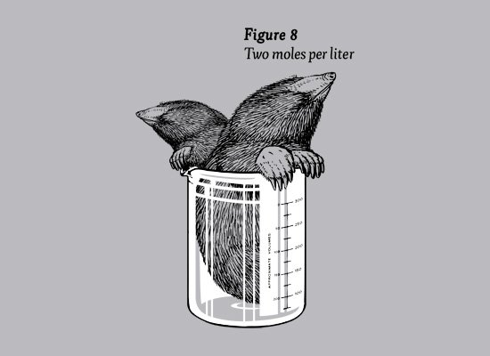 Two Moles Per Liter on Mens T-Shirt