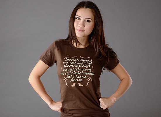 Two Roads Diverged on Juniors T-Shirt