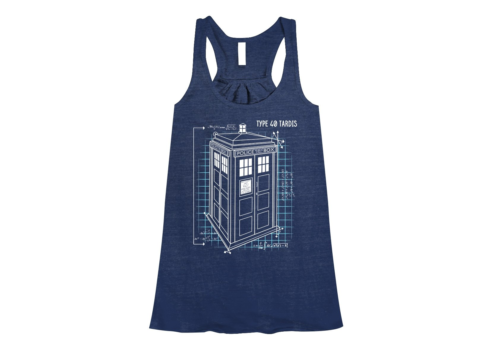 Type 40 Tardis on Womens Tanks T-Shirt