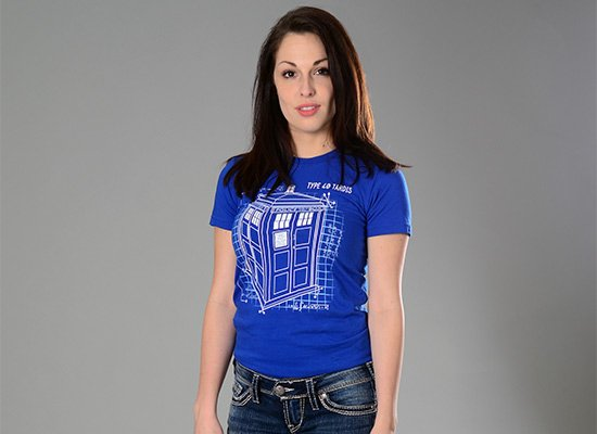 Type 40 Tardis on Juniors T-Shirt