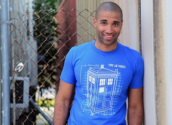 Type 40 Tardis on Mens T-Shirt