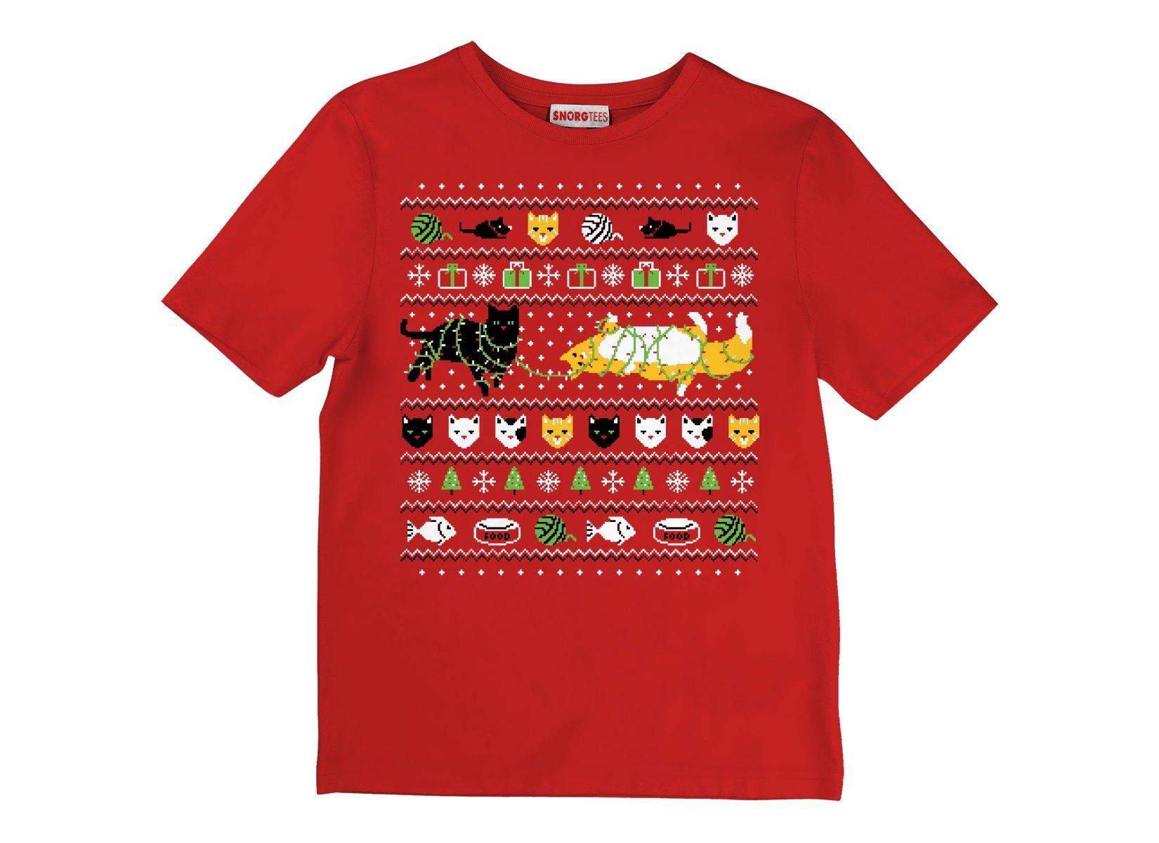 Ugly Cat Shirt on Kids T-Shirt