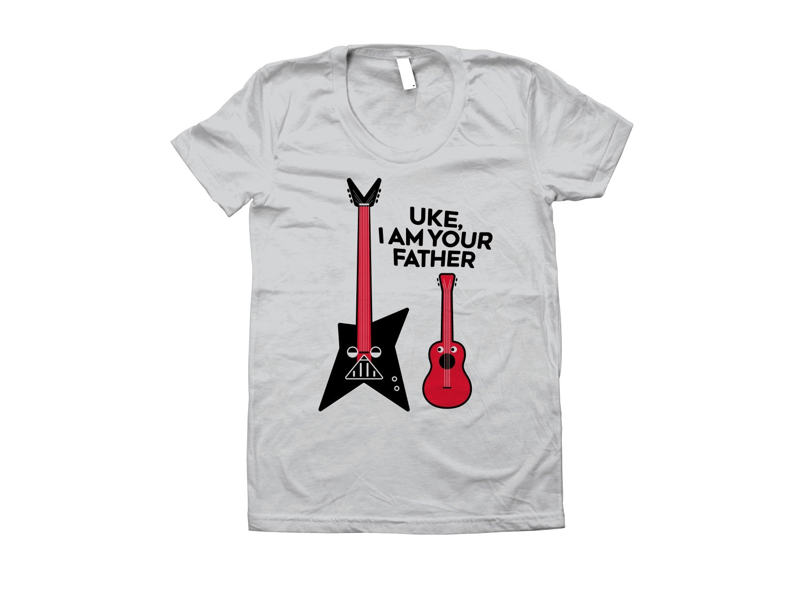 Uke, I Am Your Father on Juniors T-Shirt
