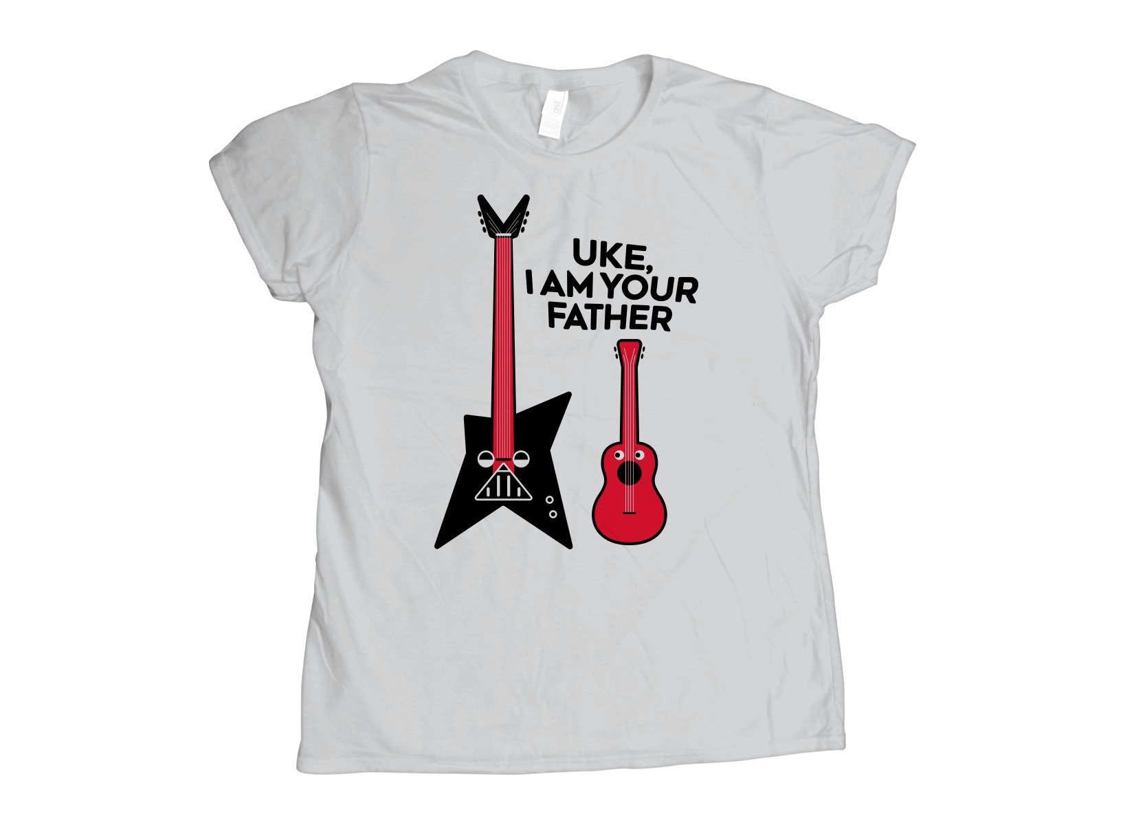 Uke, I Am Your Father on Womens T-Shirt