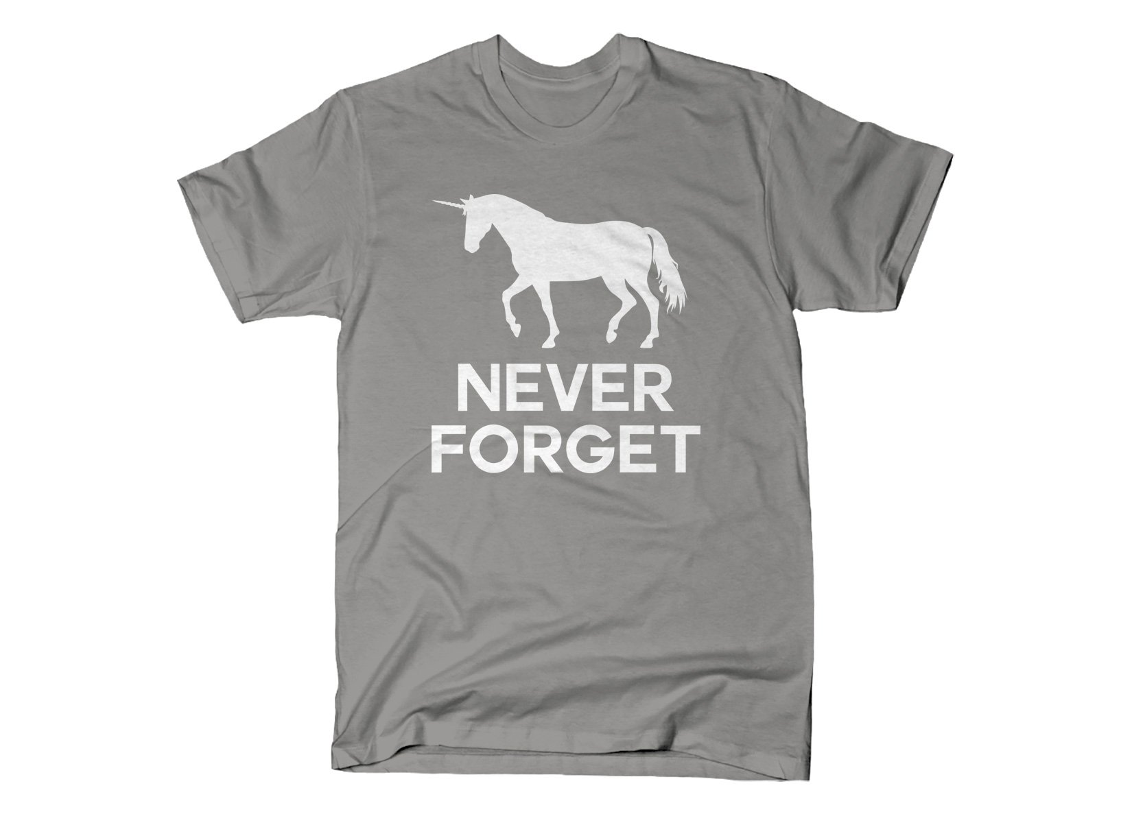 Unicorn Never Forget on Mens T-Shirt