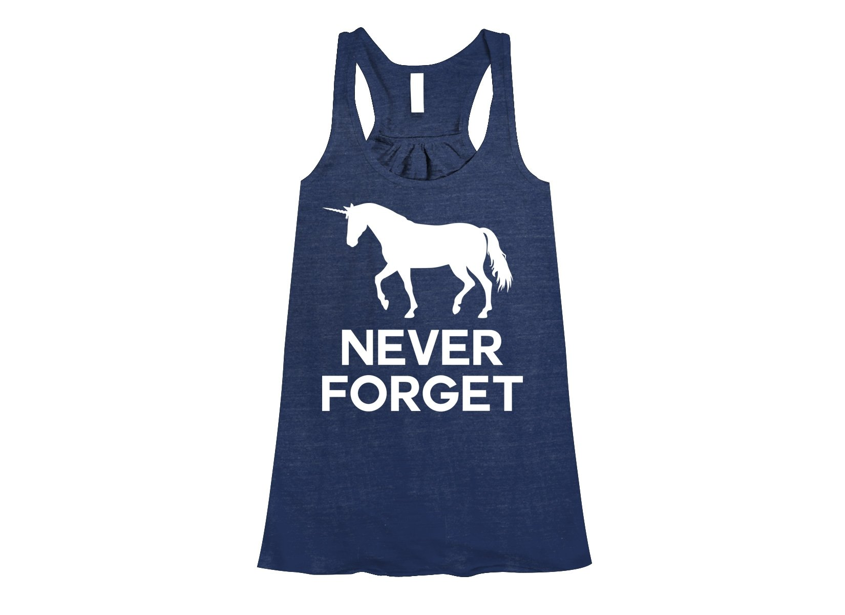 Unicorn Never Forget on Womens Tanks T-Shirt