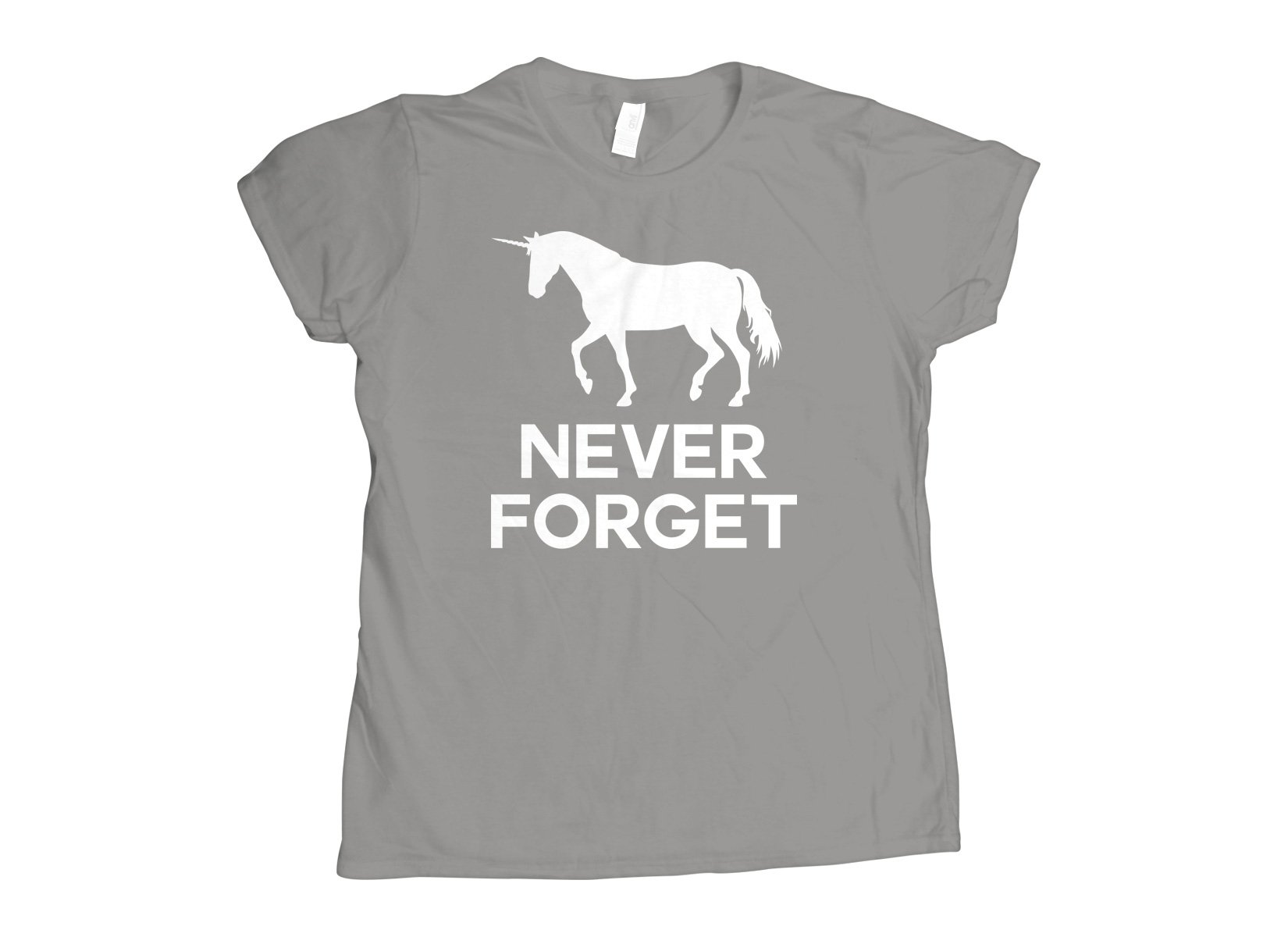 Unicorn Never Forget on Womens T-Shirt