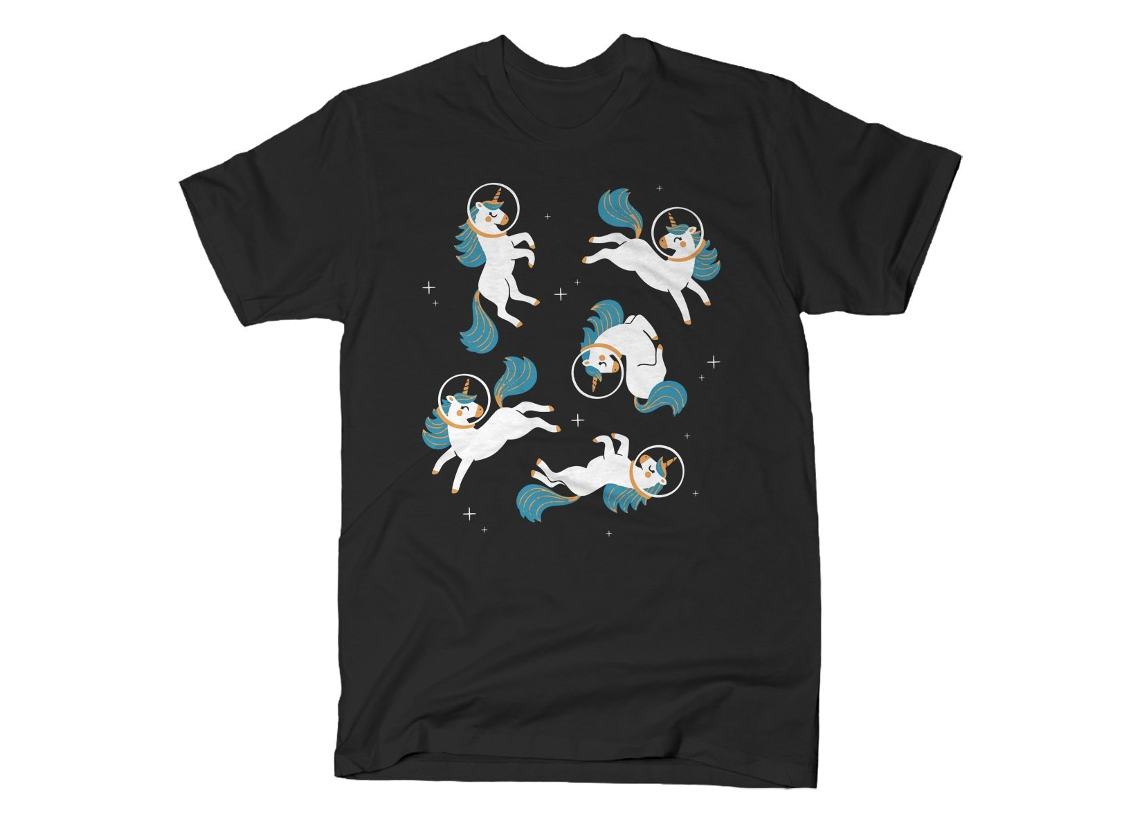 Unicorns In Space on Mens T-Shirt