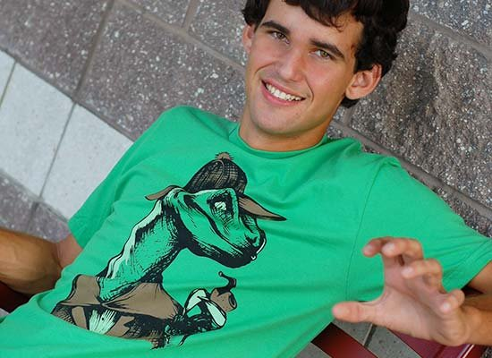 Velociholmes on Mens T-Shirt