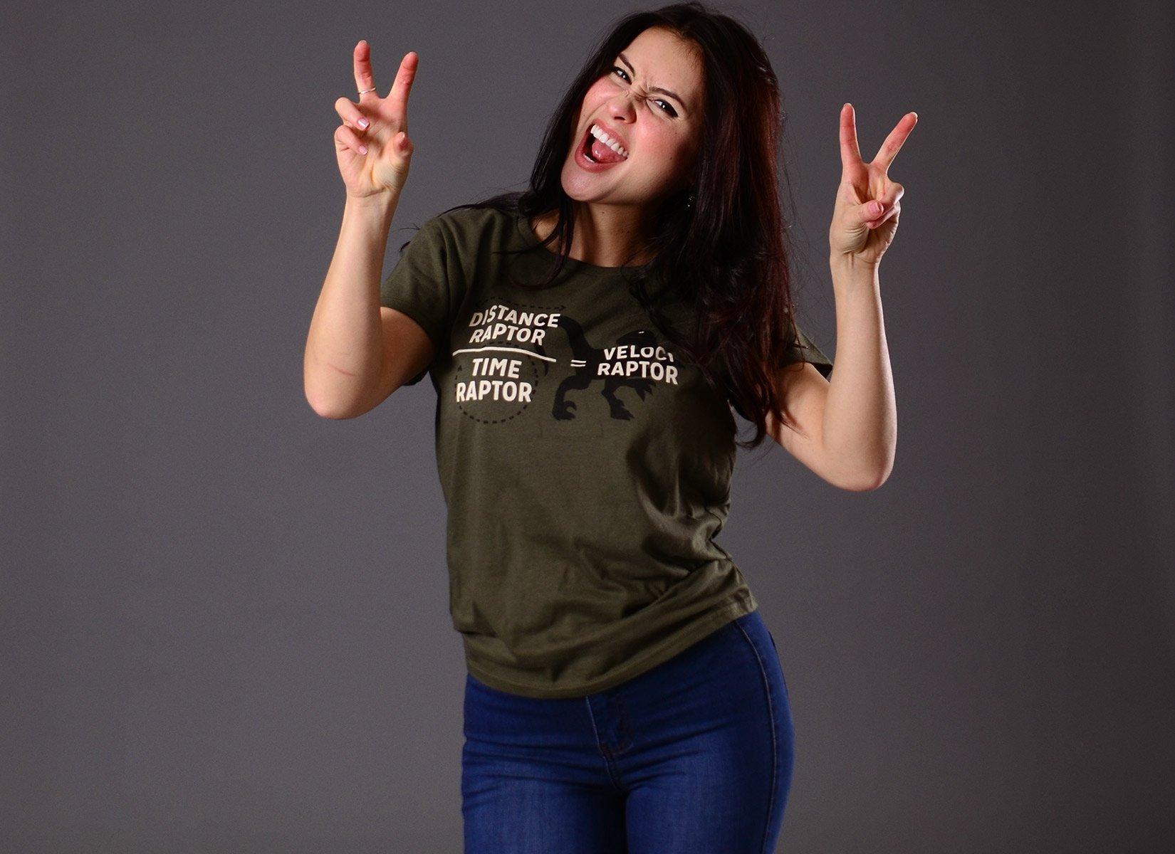 Veloci Raptor on Womens T-Shirt