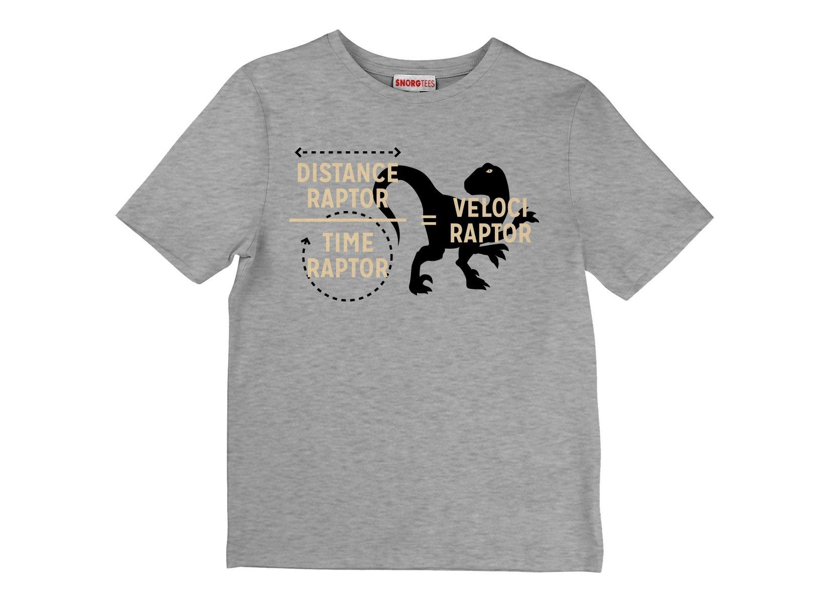Veloci Raptor on Kids T-Shirt