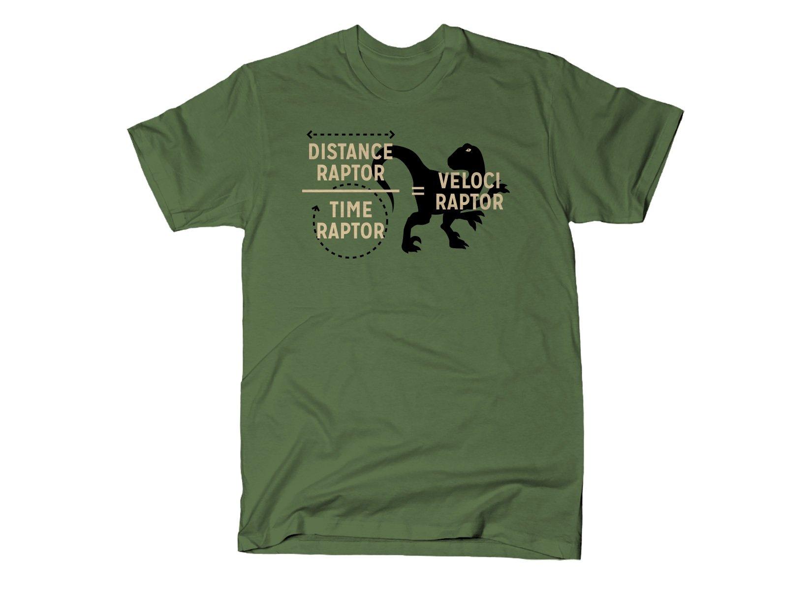 Veloci Raptor on Mens T-Shirt