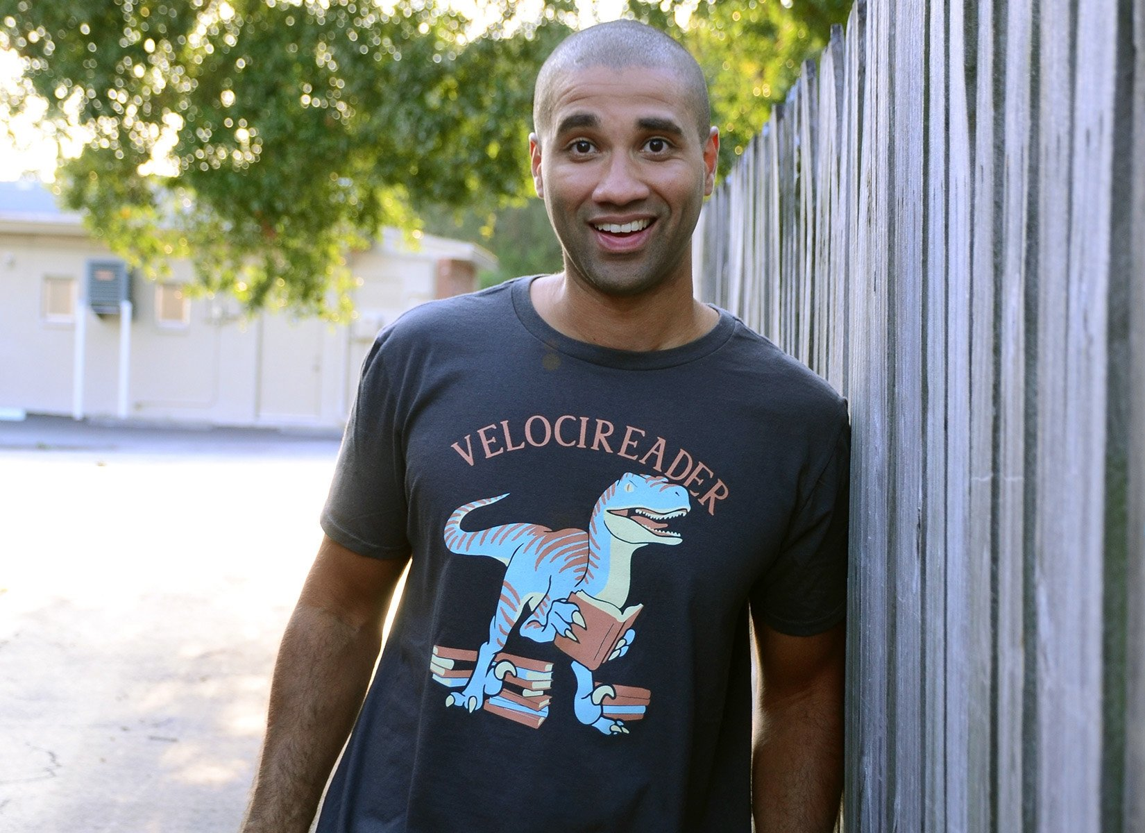 Velocireader on Mens T-Shirt
