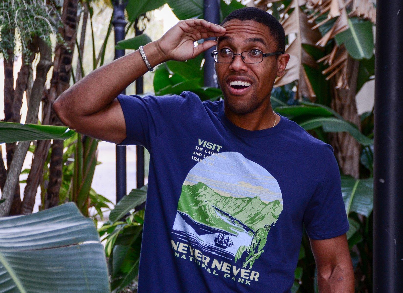 Never Never National Park on Mens T-Shirt