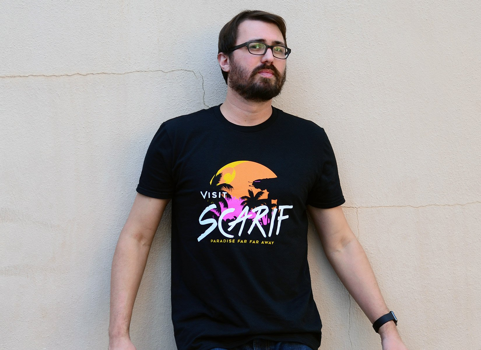 Visit Scarif on Mens T-Shirt