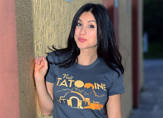 Visit Tatooine on Juniors T-Shirt