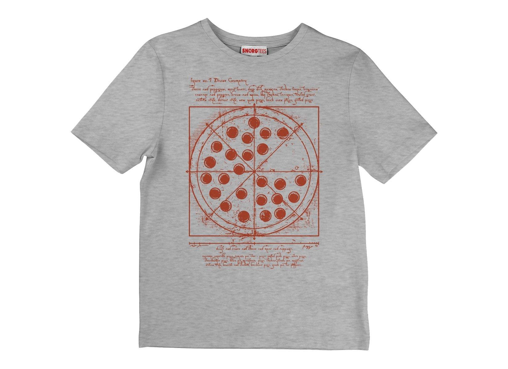 Vitruvian Pizza on Kids T-Shirt
