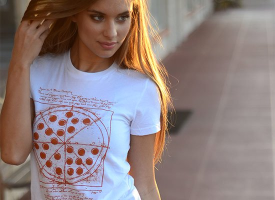 Vitruvian Pizza on Juniors T-Shirt