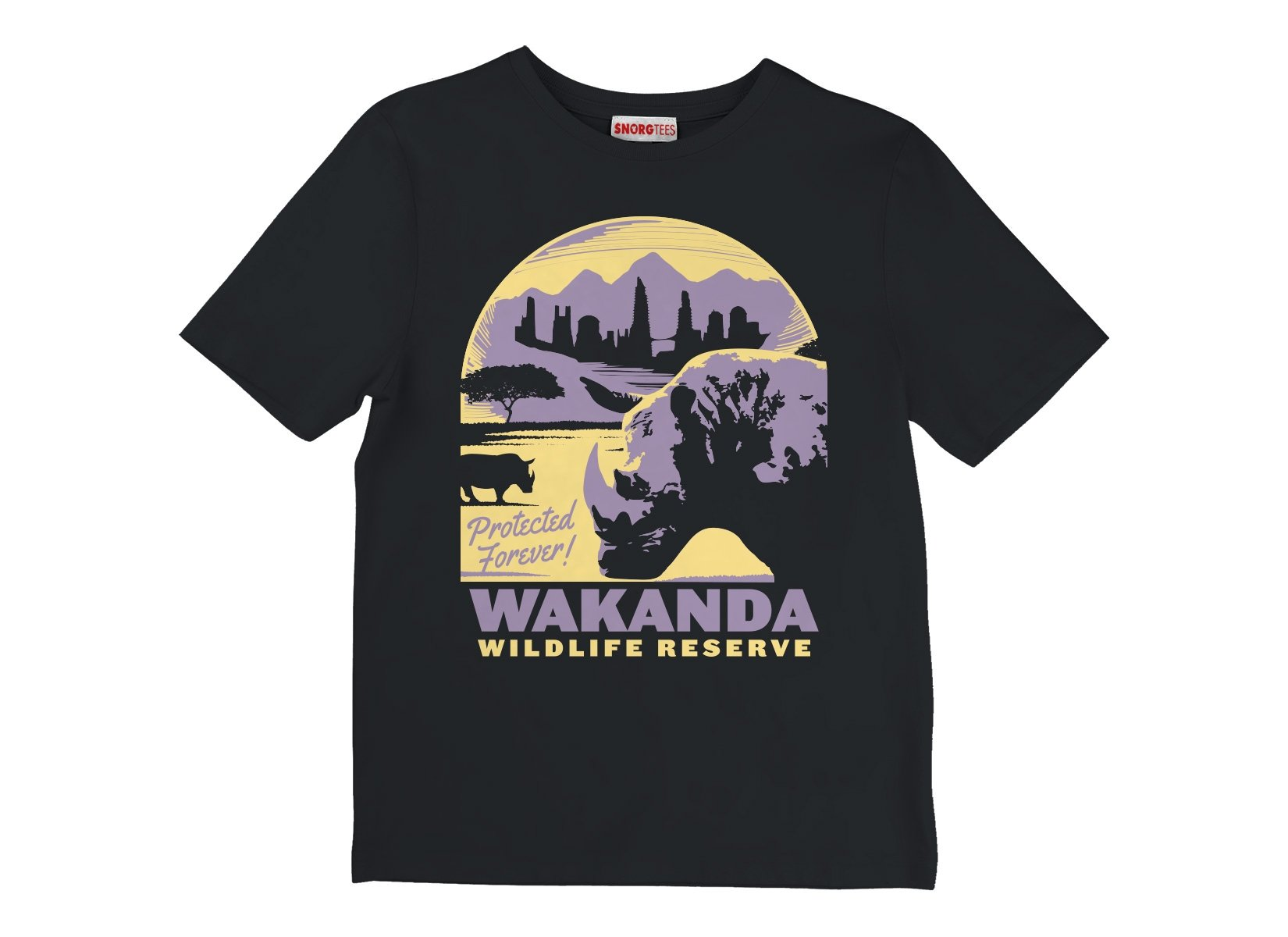 Wakanda Wildlife Reserve on Kids T-Shirt