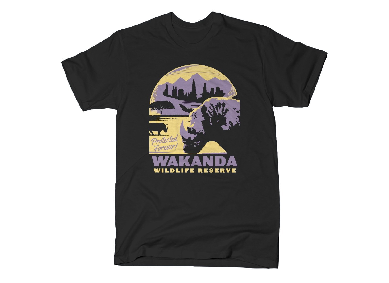 Wakanda Wildlife Reserve on Mens T-Shirt